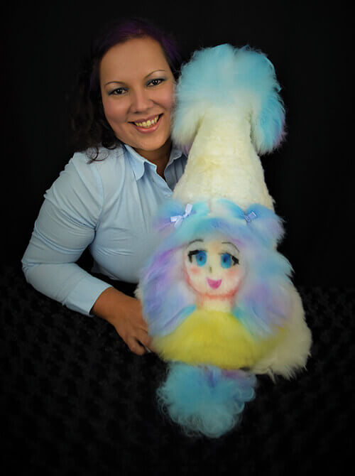 Milena Bermudez with creative dog